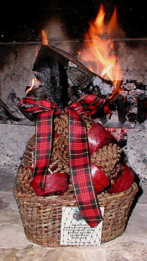 Kindle Cone Fireplace Hearth Fire Starter Gift Basket
