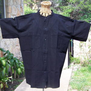 Authentic mexican organic cotton off set yoke button down for Organic cotton button down shirts